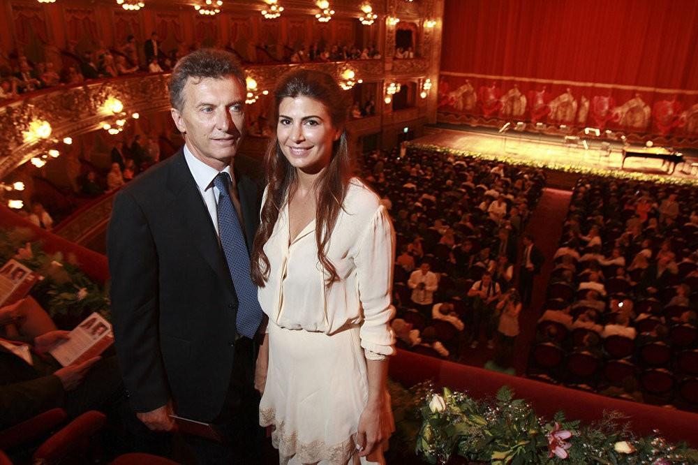 Претседателот на Аргентина Маурицио Макри и неговата сопруга Јулијана Авада