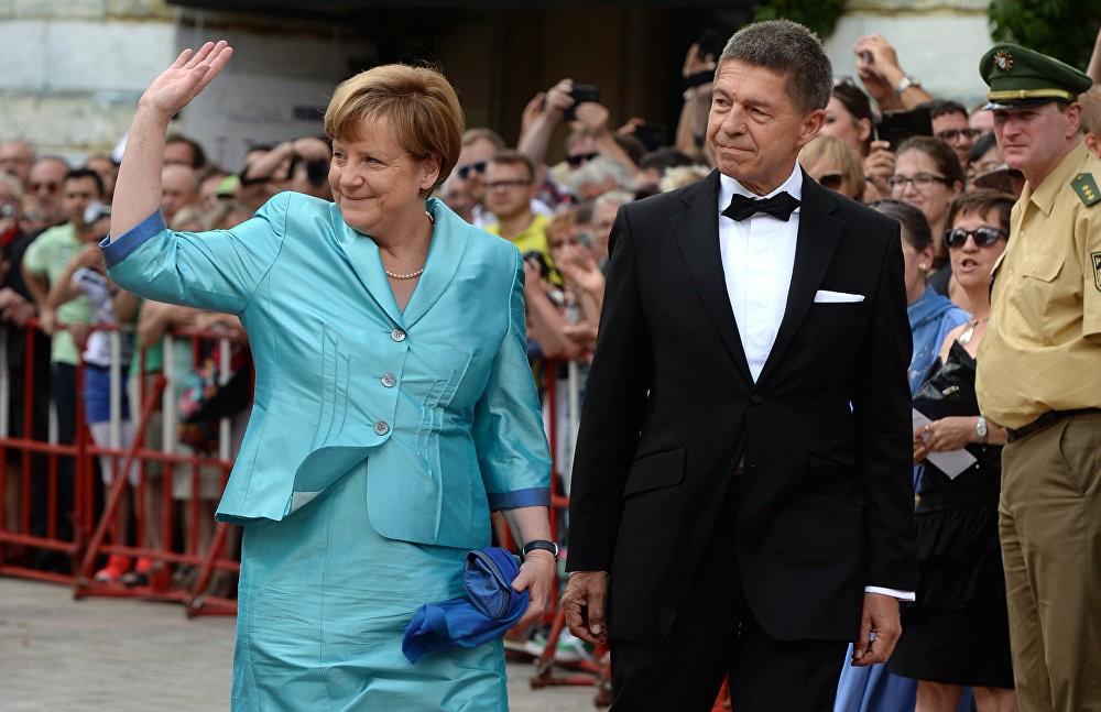 Германската канцеларка Ангела Меркел и нејзиниот сопруг Јоаким Сауер