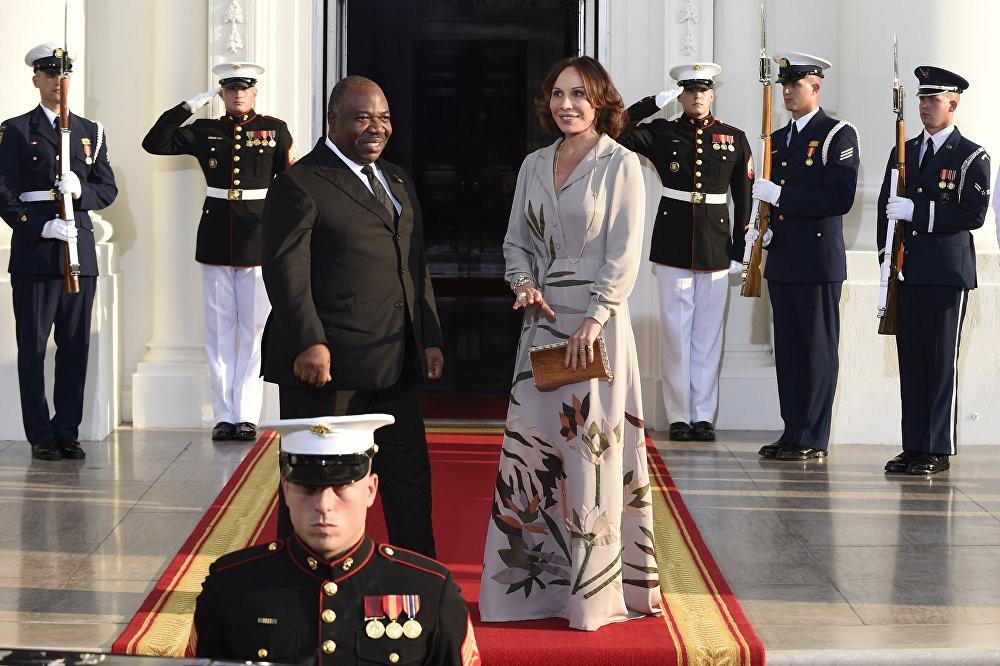 Претседателот на Габон Али Бонго Ондимба и неговата сопруга Силвиа Бонго Ондимба