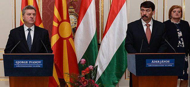 Иванов  Благодарност до Унгарија за иницијативата да се отфрли и осуди платформата од Тирана
