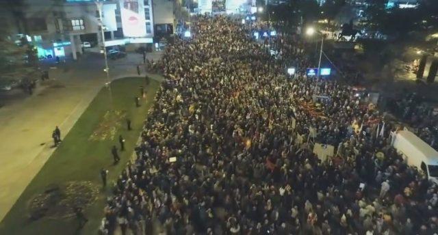 Над 150 000 граѓани низ цела Македонија порачаа   Ќе се погрижиме Хан да го слушне нашиот глас   СНИМКА ОД ДРОН