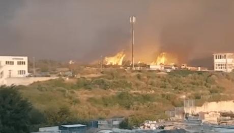 ПАНИКА ВО СПЛИТ Седум пожари се споија во еден   граѓаните во паника
