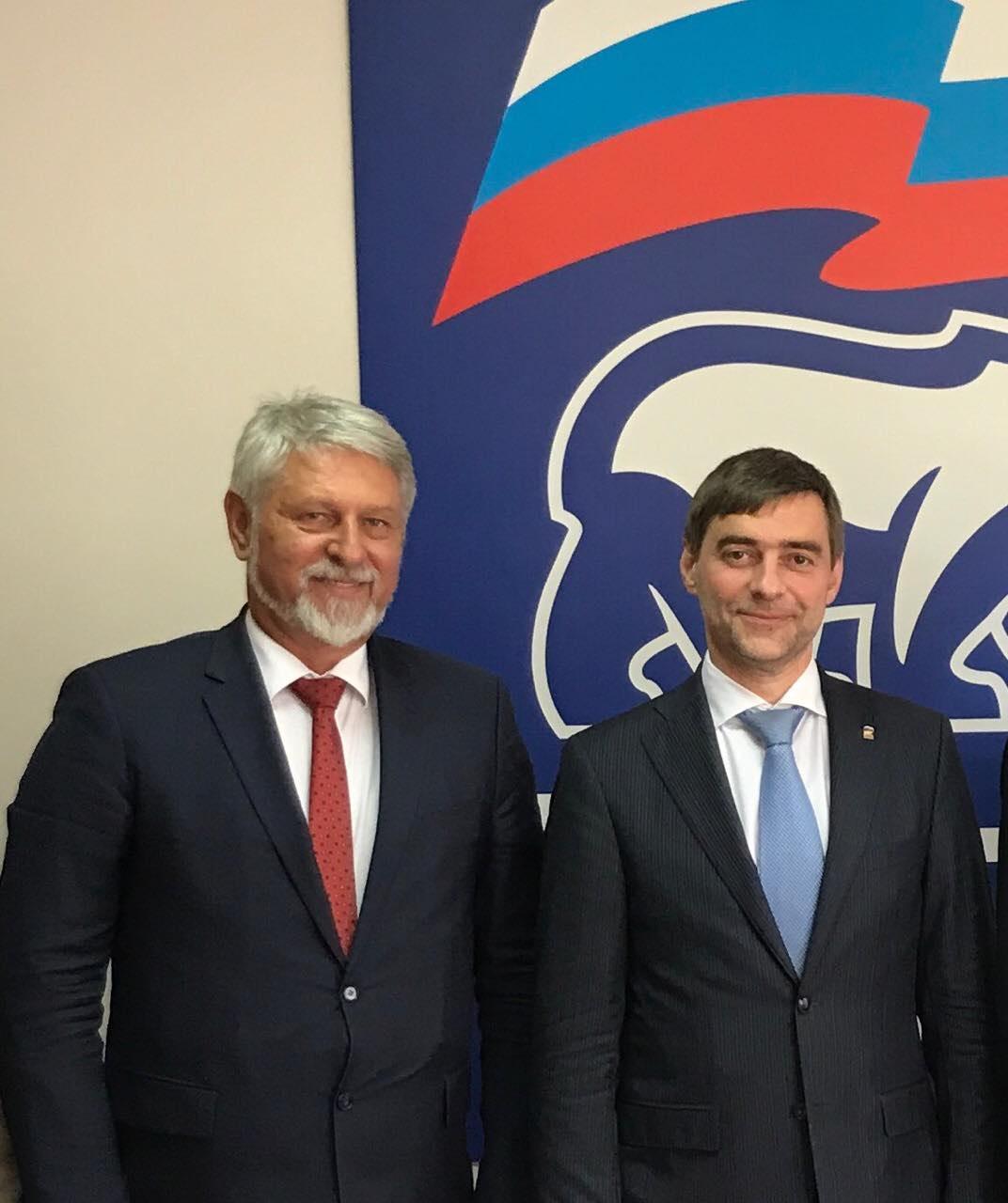 СТЕВЧО ЈАКИМОВСКИ НА СРЕДБА СО СЕРГЕЈ ЖЕЛЕЗЊАК  Лидерот на ГРОМ на средба со секретарот на владеачката  Единствена Русија  и десна рака на Путин
