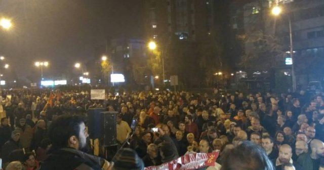 ВО ЖИВО  Следете го протестот пред Кривичниот суд во Скопје