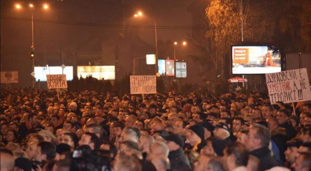 ВМРО ДПМНЕ ОСТАНУВА НА БАРИКАДИТЕ  СДС ја погреба демократијата  остануваме на улиците  блокада на крстосници и протест пред судот во 18 часот