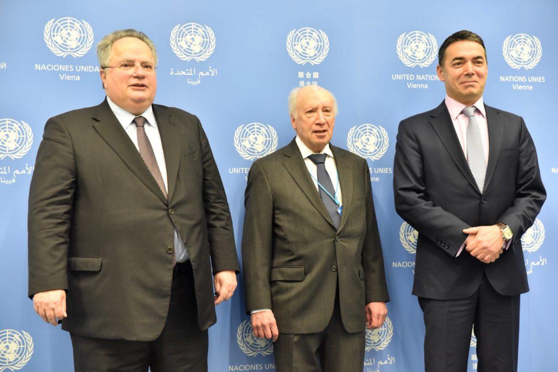 СРЕДБА ВО ВИЕНА  Димитров и Коѕијас се сретнаа со Нимиц во Виена   решение ќе се бара под покровителство на ОН