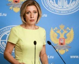 МАРИЈА ЗАХАРОВА БАРА ОДГОВОР ОД МАКЕДОНСКАТА ВЛАДА: Владата на Р.Македонија да одговори дали обвинувањата на Шеќеринска за Русија се нејзини зборови!