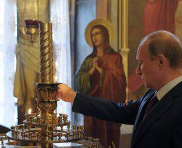 (Видео)ПУТИН ПОВТОРНО НА РУСКАТА СВЕТА ГОРА: Манастирска слава посветена на Светиот Сергеј и Герман