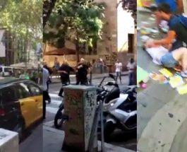 ВОЗНЕМИРУВАЧКИ СНИМКИ ОД БАРСЕЛОНА: Двајца вооружени терористи се кријат во ресторан, полицијата се обидува да ги ликвидира!