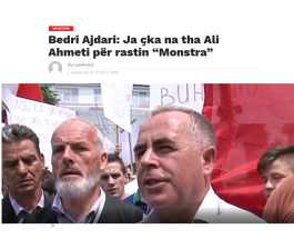РОДНИНА НА ТЕРОРИСТИ, И УНИВЕРЗАЛЕН ДЕМОНСТРАНТ ВО СЛУЖБА НА СДСМ: Бедри Ајдари, протестира и за земјоделе и за тероризам!