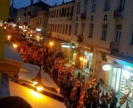 ШИРОК СОКАК ПРЕТЕСЕН ЗА ГРАЃАНИТЕ: Македонски знамиња развиорени во Битола
