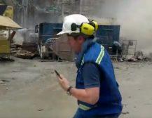 (Видео)БРАНА ПУКНА ДОДЕКА РАБОТЕА НА ИСТАТА: Градежник едвај спаси жива глава!