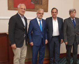 ЏАФЕРИ НА СРЕДБА СО ЕВРОПРАТЕНИЦИТЕ: Џафери се сретна со европратениците Вајгл, Кукан и Флекенштајн