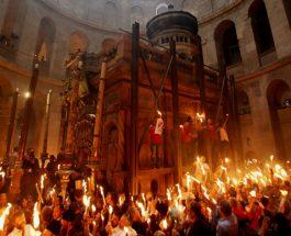 (Видео)ПОСВЕДОЧЕТЕ ГО БОЖЈОТО ЧУДО: Се симна Благодатниот Оган во Ерусалим!