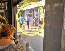 ЛУЃЕТО СЕ ДОРБИ: Погледнете ја фотографијата до возачот на автобус на ЈСП за која сите зборуваат!