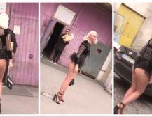 (Видео)КАРШЛЕУША СЕ ПРОШЕТА ПО ГАЌИ: Српската пејачка пристигна на снимање речиси гола