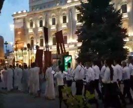 (Видео)БОЖЕНСТВЕНО: Литија во Скопје во пресрет на утрешниот празник Раѓање на Мајката Божја, Пресвета Богородица – заштитничка на Скопје