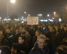 """ВО ЖИВО: Протест на ВМРО-ДПМНЕ """"За Правдината и татковината"""""""