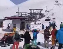 УЖАС НА СКИЈАЊЕ:Жичарницата нагло забрзала, туристите полетале на сите страни, повредена трудница