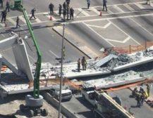 (Видео)Објавена снимка од моментот на уривањето на мостот во Мајами