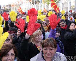 ЌЕ ВЕ ИЗВАДИМЕ ОД СОБРАНИЕ: Граѓаните до политичарите, стоп за тиранската платформа (ВИДЕО/ФОТО)