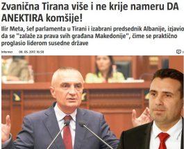 АЛБАНСКИОТ ПРЕТСЕДАТЕЛ СЕ ОДНЕСУВА КАКО МАКЕДОНИЈА ДА Е НЕГОВА: Албанија веќе не ја крие намерата за анектирање на Македонија!