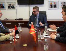 Мицкоски, Ѓорчев и Перински остварија средба со германскиот амбасадор Герберих