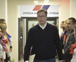 ВУЧИЌ НОВ ПРЕТСЕДАТЕЛ НА СРБИЈА: По 80% обработени гласови, Вучиќ води со 55.1% од гласовите