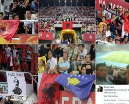"""ЗАЕВ БАРА ДА СЕ УБИЈАТ КАУРИТЕ: Зоран Заев, еден од најистакнатите навивачи на """"Шкендија"""" ги поддржува скандирањата на навивачката група!"""